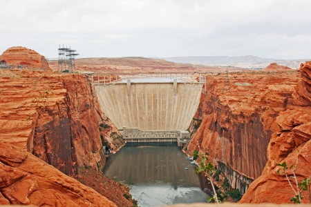 glen: Glen Canyon Dam, Arizona Stock Photo