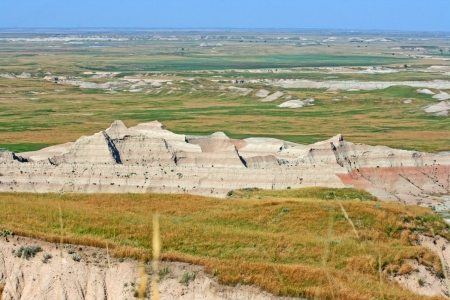 Wide landscape of Badlands, South Dakota photo