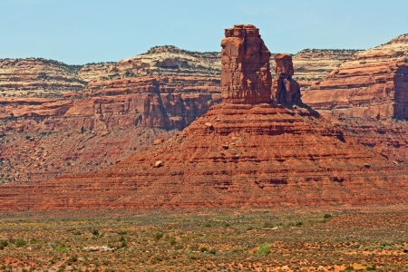 pinnacle: Pinnacle nella Valle degli Dei, Utah Archivio Fotografico