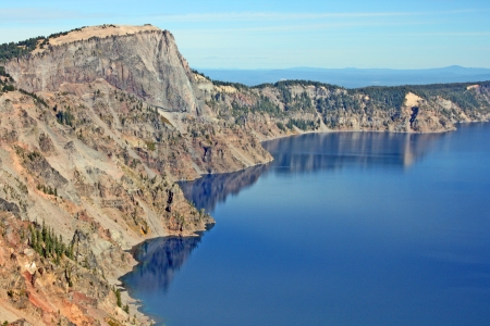 crater lake: The slope on Crater Lake, Oregon Stock Photo