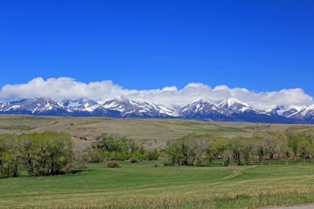 Crazy Mountains from US-191, Montana