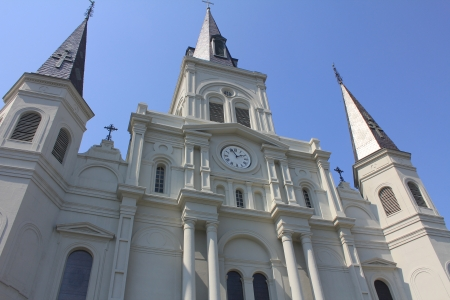 fasade: Fasade of St Louis Cathedral, New Orleans, Louisiana Stock Photo