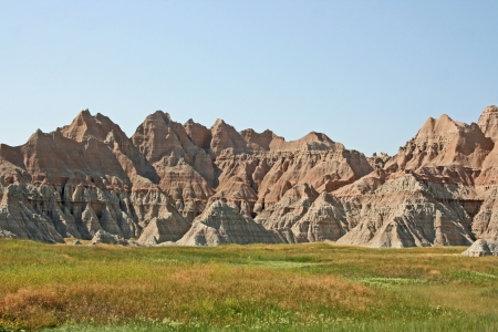 Badlands - national park in South Dakota photo