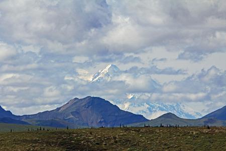 mckinley: Mount McKinley hidden in the clouds, Alaska