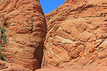 slot canyon: Enter to the slot- Utah, Wire Pass slot canyon Stock Photo