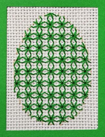 punto croce: Verde ricamato Easter Egg - il mio lavoro handmade, punto croce