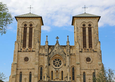 Front of San Fernando cathedral, San Antonio, texas