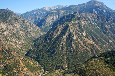 kings canyon national park: Landscape in Kings Canyon National Park, California Stock Photo