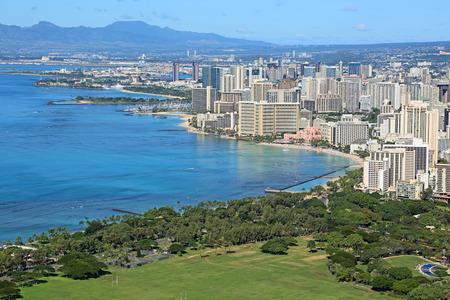 View at Honolulu and Kapiolani Park, Oahu, Hawaii