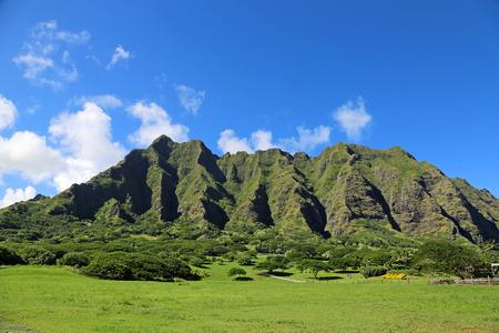 Kualoa Ranch, Oahu, Hawaii 스톡 콘텐츠