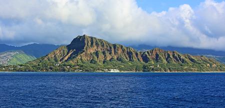crater: Diamond head - volcanic cone, Oahu, Hawaii