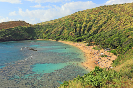 Hanauma Bay beach, Oahu, Hawaii photo