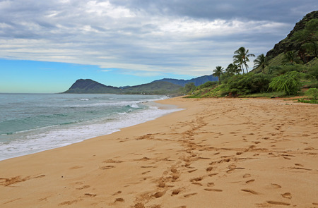Nanakuli Beach, west Oahu, Hawaii