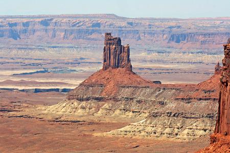 pin�culo: Pinnacle en el Parque Nacional Canyonlands, Utah