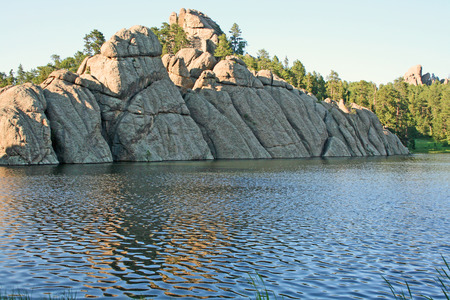 Cliffs on Sylvan Lake, South Dakota photo