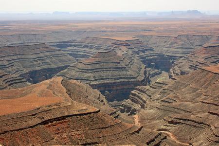 Plateau with San Juan River Canyon, Utah Stock Photo