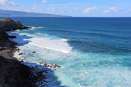 Blue Pacific - Coast of north Maui, Hawaii Archivio Fotografico
