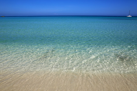 mile: View from 7 Mile Beach on Caribbean Sea, Negril, Jamaica Stock Photo