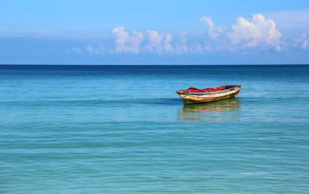 Old boat on Caribbean Sea, Jamaica