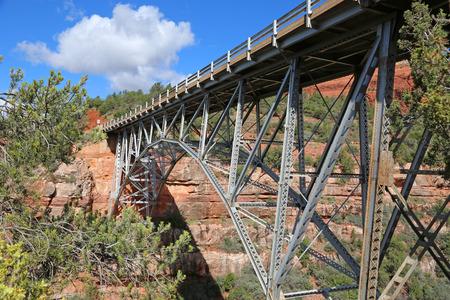 sedona: Midgley Bridge, Sedona, Arizona Stock Photo