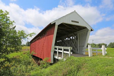 Front of Imes Bridge, Iowa 스톡 콘텐츠