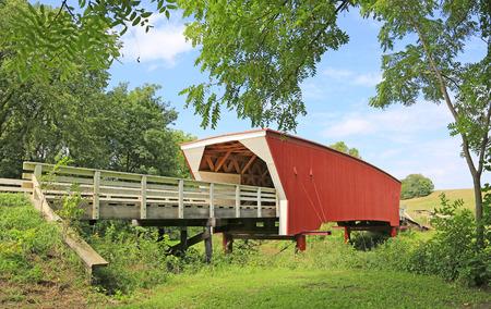 iowa: Cedar Bridge under trees, Iowa