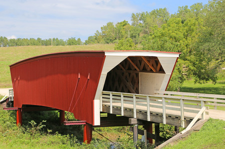 iowa: Cedar Bridge, Iowa Stock Photo