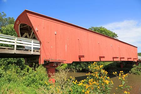 Hogback Bridge close up, Iowa