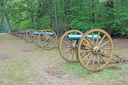 Row of cannons - Shiloh National Military Park, Tennessee