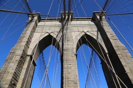 The pylon of Brooklyn Bridge , New York City