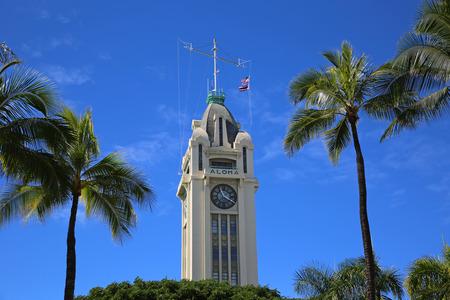 Aloha Tower - Honolulu, Oahu, Hawaii,