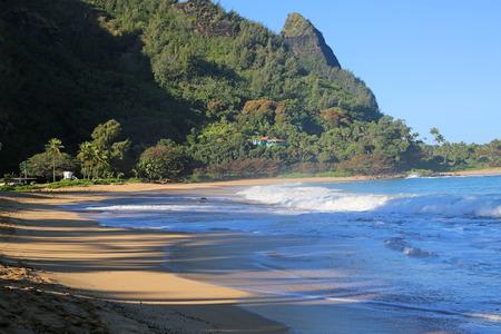 Haena Beach Park, Kauai, Hawaii 스톡 콘텐츠