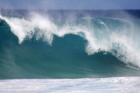 north shore: Big wave - North Shore of Oahu, Hawaii Stock Photo