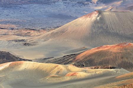 Colorful volcanic slopes- Haleakala National Park, Maui, Hawaii photo