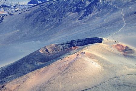 ka: Ka Luu Oka Oo Crater, Haleakala National Park, Hawaii, Maui Stock Photo