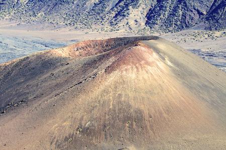 maui: Puu O Maui Crater - Haleakala National Park, Maui, Hawaii Stock Photo