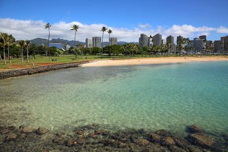 Oahu: Ala Moana Beach Park, Magic Island - Honolulu, Oahu, Hawaii