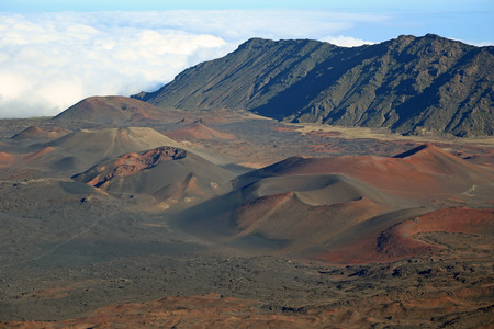 maui: Volcanic cinder cones in Haleakala NP  Maui Hawaii Stock Photo