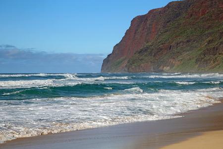 Cliffs on Pacific - Polihale SP, Kauai, Hawaii