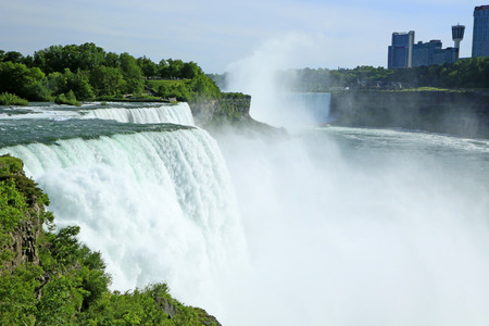 niagara river: American Niagara Falls and Niagara River- New York