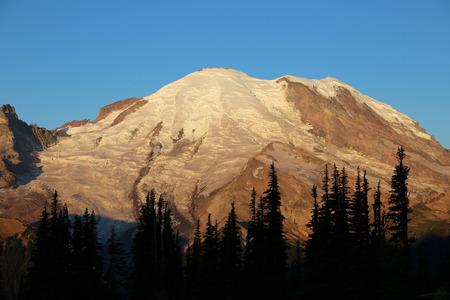 mount rainier: Mount Rainier at sunrise - Washington Stock Photo