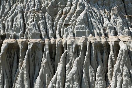 north dakota: Structure of badlands formations - North Dakota