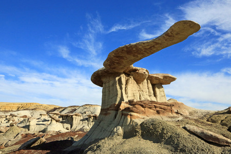 hoodoo: King of wings- famous hoodoo in Bisti Wilderness Area, New Mexico