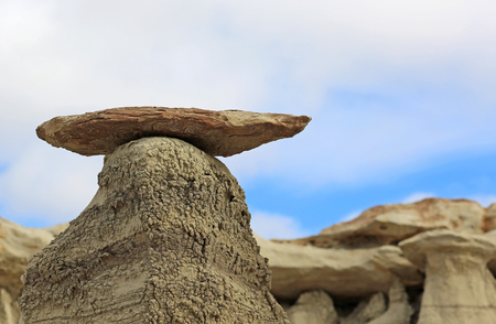 new mexico: Rock mushroom - New Mexico Stock Photo