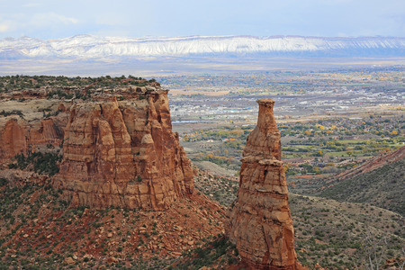 Independence Monument over Grand Junction, Colorado