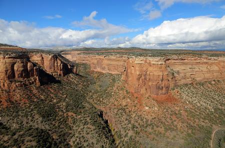 slot canyon: Deep slot in Uta Canyon- Colorado National monument