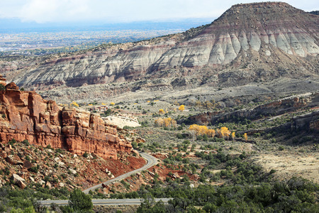 rock formation: Colorful rock formation - Colorado National Monument