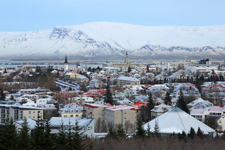 Mount Esja and Reykjavik, Iceland