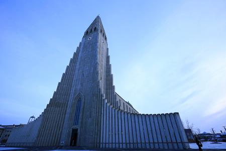 lutheran: Hallgrimskirkja - lutheran church in Reykjavik, Iceland
