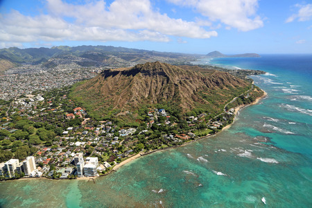 diamond head: Diamond head - Oahu, Hawaii Stock Photo